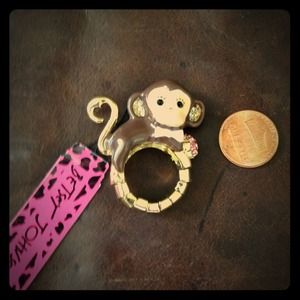 Betsey Johnson a monkey ring
