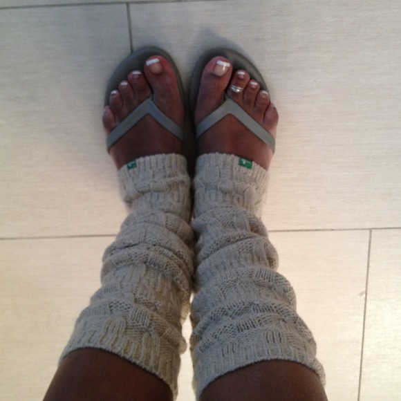 size 40 8a008 e1d55 New Sanuk Flip Flop Socks Leg Warmers Boots size 8
