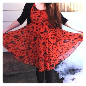 ASOS Dresses & Skirts - SOLD - Orange Asos Bird Print Dress