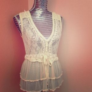 Lace Charlotte Russe Top.