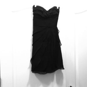 Black silk chiffon dress