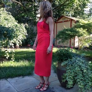 puma Dresses & Skirts - Red cotton maxi dress