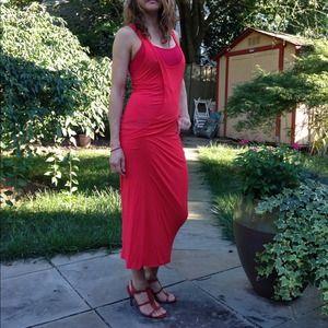 puma Dresses - Red cotton maxi dress