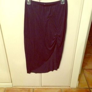 Bella luxx navy blue skirt with slit