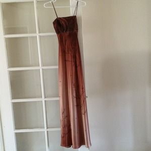 Dresses & Skirts - Long beautiful brown beaded formal dress