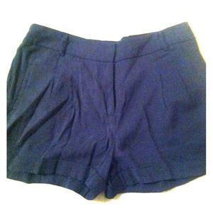 Navy, high waisted shorts