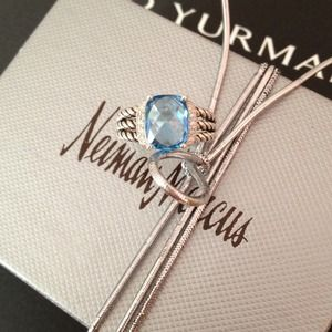 Authentic David Yurman Blue Topaz Petite Wheaton