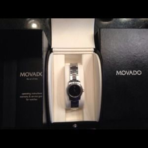 🎈SOLD🎈 AUTHENTIC MOVADO WATCH W/BOX AND PAPERS