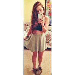 ✨ mint green skater skirt ✨