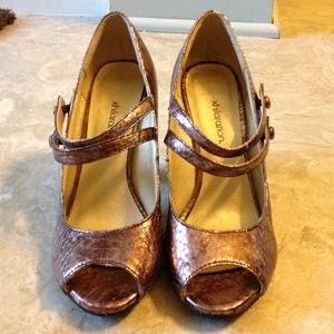Xhilaration Shoes - Metallic Purple Heels - Size 5.5