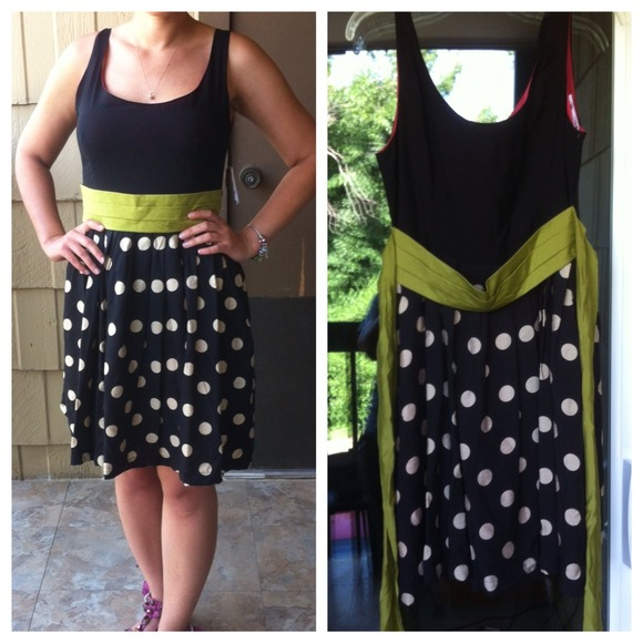 "Anthropologie Dresses & Skirts - Corey Lynn Calter ""Slice of Lime"" Polka dot Dress 2"
