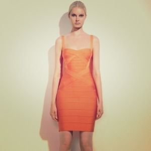 Herve Leger Classic Dress XS Melon