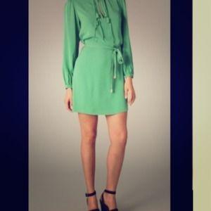 Diane von Furstenburg Dresses & Skirts - 🎉🎉 HP Fall 2011 DVF Florane Dress, Clover Green