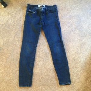 Hollister 'Social Stretch' Dark Wash Skinny Jeans