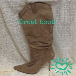 Brown suede boots