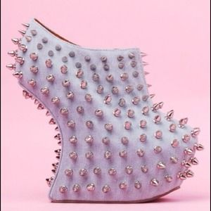 Jeffery Campbell shadow studded wedge