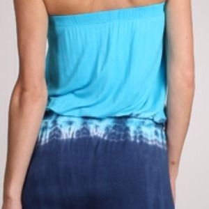 Pants & Jumpsuits - SUMMER SALE. Chic strapless tie dye jumpsuit