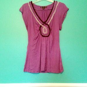Embellished Purple Shirt!
