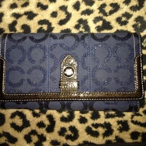 Large Coach blue wallet