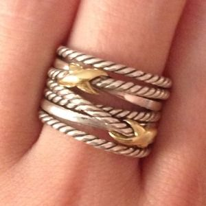 David Yurman Crossover Ring X two tone