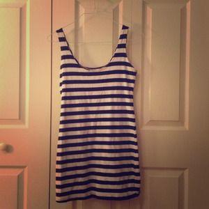 Tight striped dress