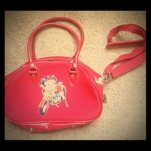 Handbags - Betty boop red purse