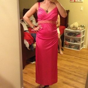 Hot pink MY MICHELE formal gown