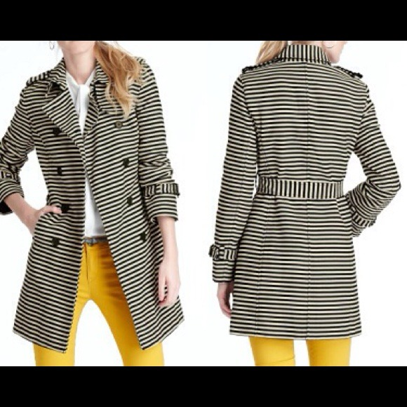 LOFT Jackets & Coats - Blogger Favorite: LOFT striped trench coat Small