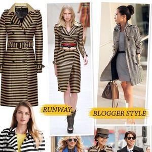LOFT Jackets & Coats - Blogger Favorite: LOFT striped trench coat Small