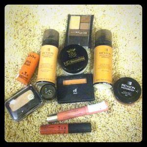 Bundle of makeup from revlon,nyx,Maybelline etc