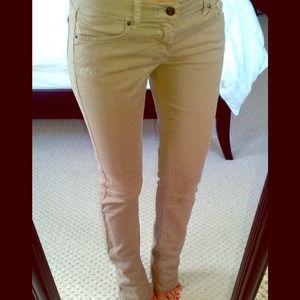 NY&Co Khaki skinny jeans 0