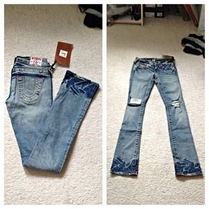 True Religion Johnny Straight Leg Jeans