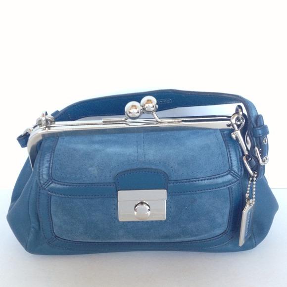 cbbb060ecf6 Coach Bags   Vintage Blue Kisslock Bag 9734   Poshmark