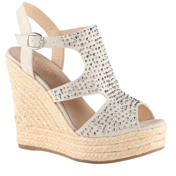 3f5e435084d HOST PICK✔ALDO Palmina Studded Wedges