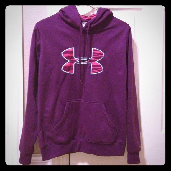 Purple/pink zebra Under Armour hoodie!