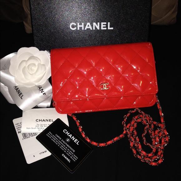 9e79fe7e3fe12a CHANEL Bags | Wallet On Chain Rare Color Orangered | Poshmark