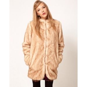 ASOS longline fur coat