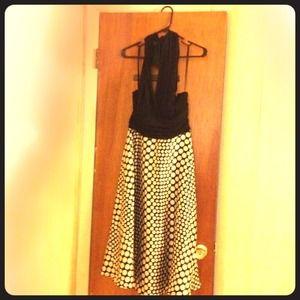 Black and Polka Dot Dress