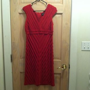 Adrianna Papell red dress size 10