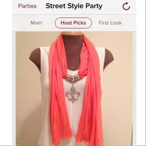 Accessories - NEW Tangerine Fleur de Lis Scarf