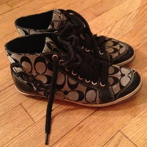 Black coach high top sneakers REDUCED