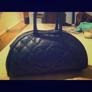 CHANEL Authentic Bowler Bag- Lambskin