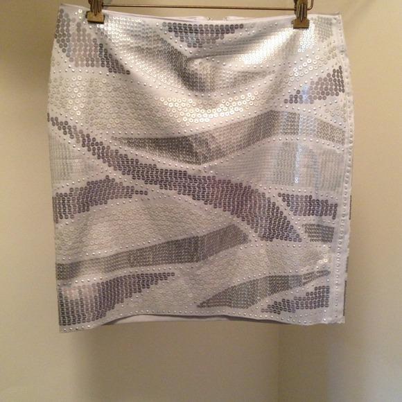 96c65e8bff01 White House black market Skirts | Silver Sequin Mini Skirt | Poshmark