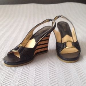 KORS Michael Kors Shoes - On SALE!! Michael Kors Peep Toe Wedge