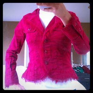 Red Lightweight Denim Jacket