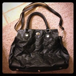 Hello kitty black leather