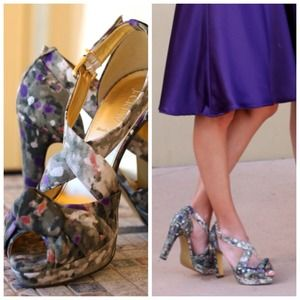 J. Crew Shoes - J.Crew floral knotted pumps