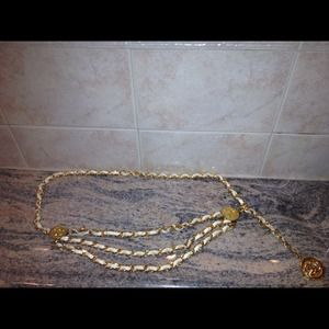 Authentic vintage Chanel chain belt
