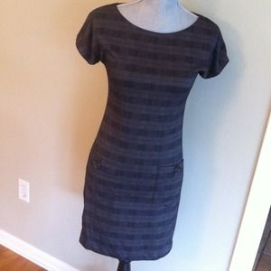 M.S.S.P. Dresses & Skirts - Gray plaid dress