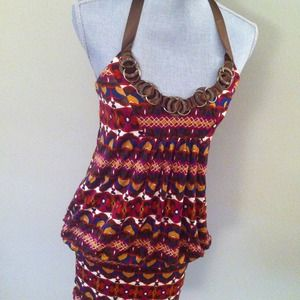 XOXO Dresses & Skirts - Reduced! Tribal print halter dress